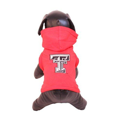 All Star Dogs NCAA Texas Tech Red Raiders Cotton Lycra Hooded Dog Shirt