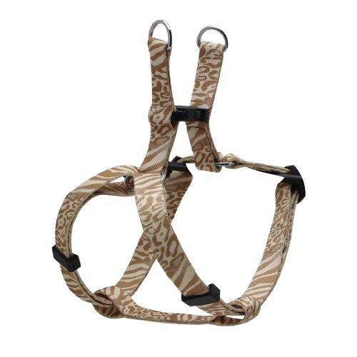 Dogit Style Adjustable Harness, Body 8 by 11-Inch, XX-Small, Jungle Fever, Beige