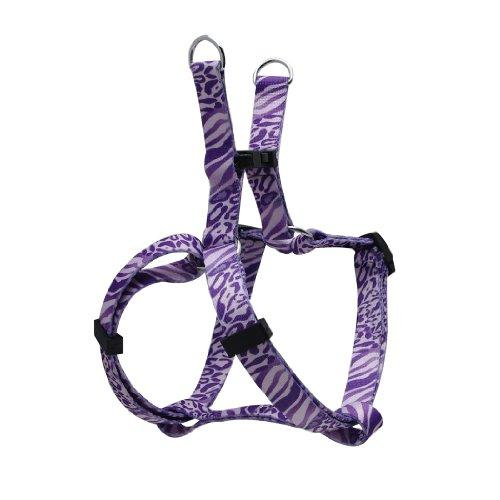 Dogit Style Adjustable Harness, Body 11 by 14-Inch, X-Small, Jungle Fever, Purple