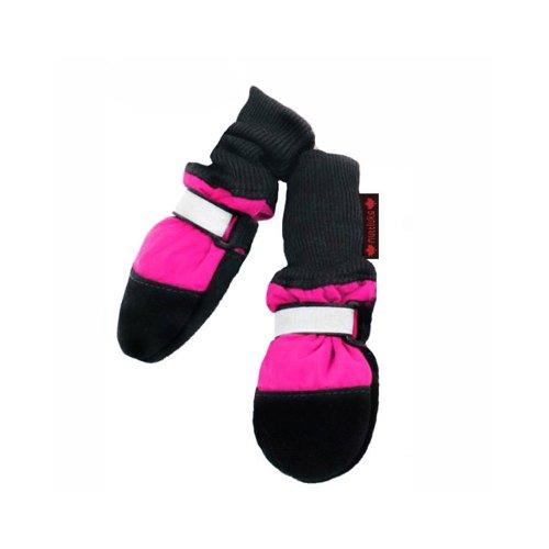 Muttluks Fleece Lined 2.25-Inch to 2.75-Inch Dog Boots, X-Small, Pink, Set of 4