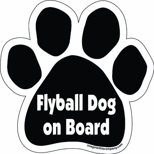 Imagine This Paw Car Magnet, Flyball Dog on Board , 5-1/2-Inch by 5-1/2-Inch