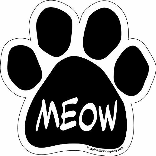Imagine This Paw Car Magnet,  Meow, 5-1/2-Inch by 5-1/2-Inch