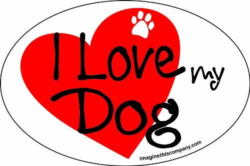 Imagine This 4-Inch by 6-Inch Car Magnet Heart Oval, Dog