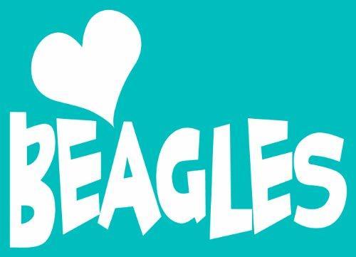 Imagine This Car Window Decal, Heart Beagles