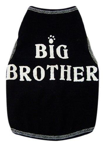 I See Spots Dog Pet Cotton T-Shirt Tank, Big Brother, X-Large, Black
