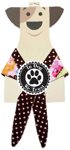 In Dog We Trust Cupcakegirl Bandana, Large, Pink