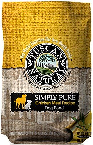 Tuscan Natural Pet Food Simply Pure Chicken Meal Dog Food Recipe, 30 lb