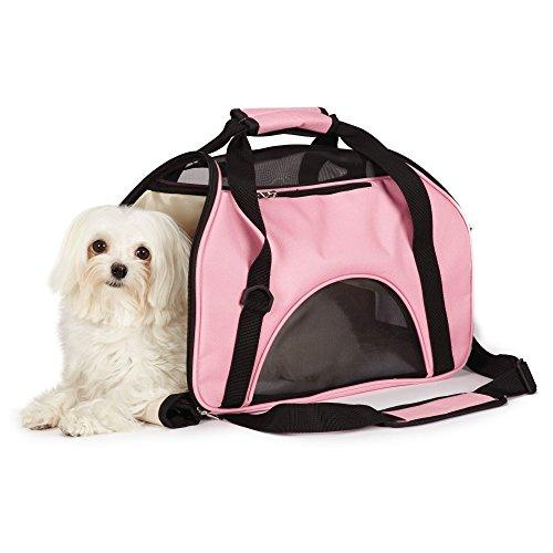 East Side Collection On-the-Go Pet Carriers  Practical and Fashionable Carriers for Small Dogs and Cats, Pink