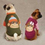 East Side Collection ZM349 10 15 Monkey Business Raglan Tee for Dogs, X-Small, Ty