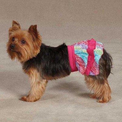 East Side Collection ZM3555 08 81 Confetti Ruffle Skirt for Dogs, XX-Small, Raspberry