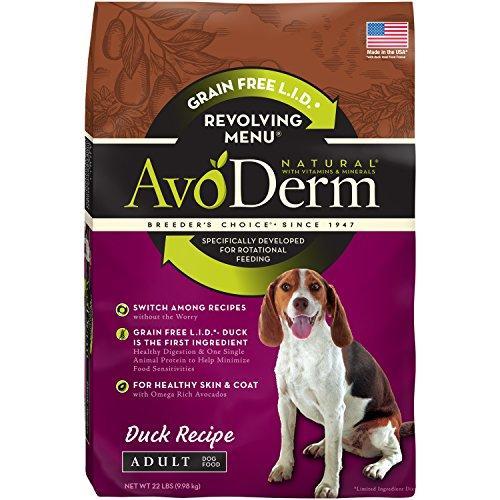 AvoDerm Natural Revolving Menu Adult Dog Food, Duck, 22-Pound