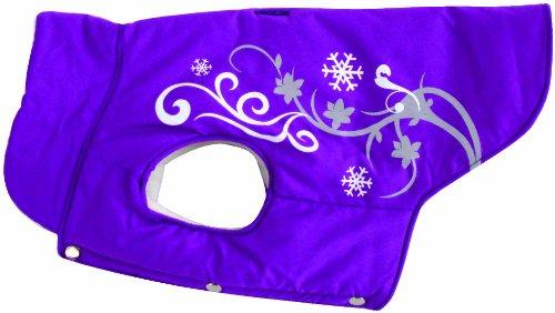 Dogit Style Winter Dog Vest with Urban Reflective Print, Small, Purple