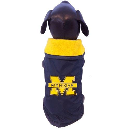 NCAA Michigan Wolverines Collegiate Outerwear Dog Coat, XX-Large