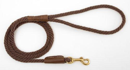 Mendota Dog Products Snap Leash, 1/2-Inch by 6-Feet, Dark Brown