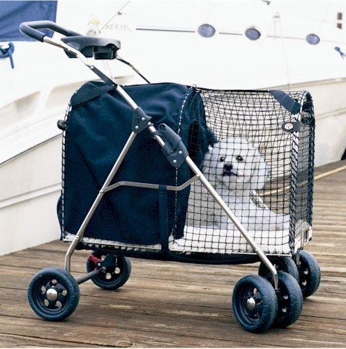 5th Avenue Pet Stroller Color: Blue