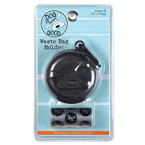 Dog Is Good BOLO Waste Bag Holders  Whimsical Waste Bags Dispensers for Dogs, Black