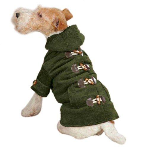 East Side Collection ZM3868 10 74 Corduroy Toggle Coat for Dogs, X-Small, , Chive