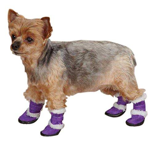 East Side Collection Polyester Sherpa Dog Boot, Medium, Ultra Violet
