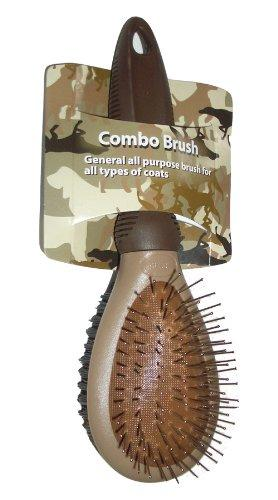 Enrych Combination Dog Brush, Large, Camouflage