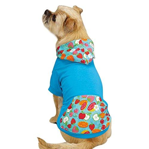 East Side Collection Polyester/Cotton Fruit Frenzy Dog Pullover, Small, Capri