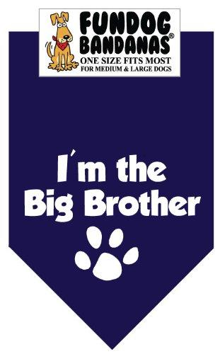 BANDANA - Im the Big Brother for Medium to Large Dogs - navy blue