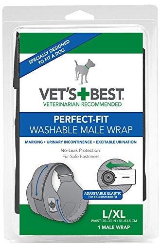 Vets Best 1 Count Perfect Fit Washable Male Dog Wrap, Large/X-Large