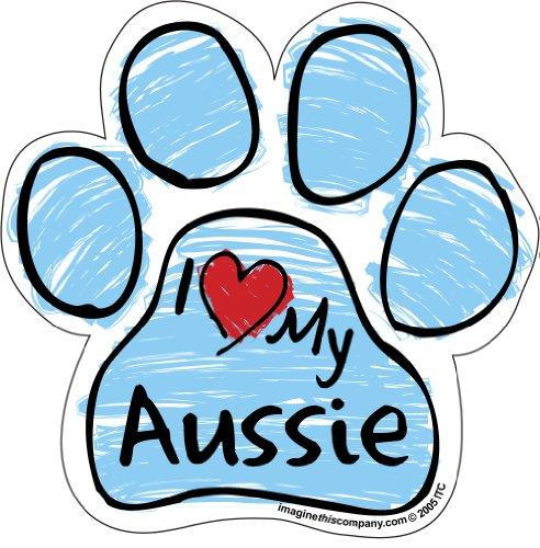 Imagine This Scribble Paw Magnet, Aussie