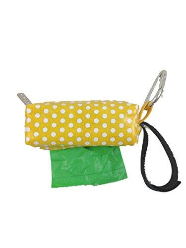 Doggie Walk Bags Duffel Bags for Dogs, Rainforest, Yellow Dot, Green