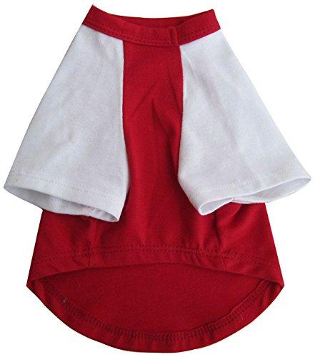 Iconic Pet Pretty Pet Top, XX-Small, Red and White