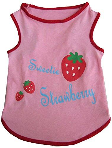 Iconic Pet Pretty Pet Top, XX-Small, Pink/Strawberry