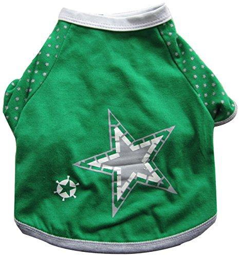 Iconic Pet Pretty Pet Summer Top, X-Small, Green