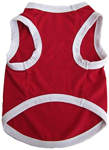 Iconic Pet Pretty Pet Tank Top, XX-Small, Red