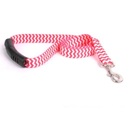 Yellow Dog Design Strawberry Chevron EZ Grip Lead, 3/4-Feet by 60-Feet