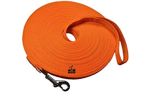 Long Dog Puppy Obedience Recall Training Agility Lead, Leash - ORANGE, 15 Foot - by, Downtown Pet Supply