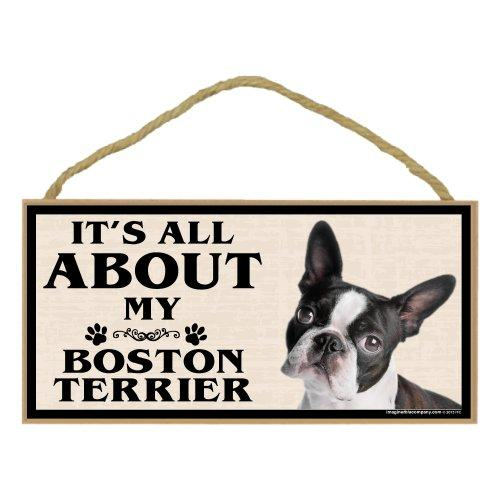 Imagine This Wood Breed Sign, Its All About My Boston Terrier