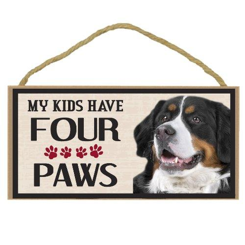 Imagine This Wood Breed Four Paws Sign, Bernese Mountain Dog