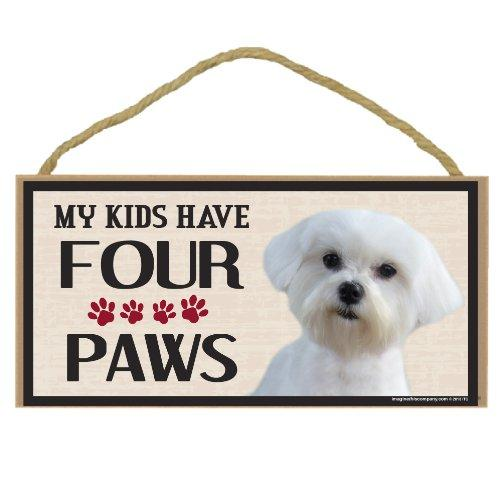 Imagine This Wood Breed Four Paws Sign, Maltipoo