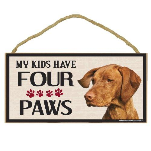 Imagine This Wood Breed Four Paws Sign, Vizsla