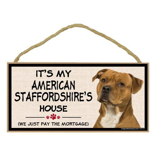 Imagine This Wood Breed Decorative Mortgage Sign, American Staffordshire