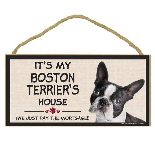 Imagine This Wood Breed Decorative Mortgage Sign, Boston Terrier