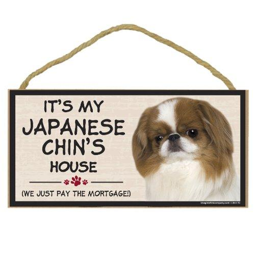 Imagine This Wood Breed Decorative Mortgage Sign, Japanese Chin