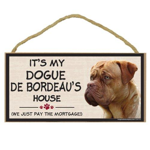 Imagine This Wood Breed Decorative Mortgage Sign, Dogue De Bordeaux