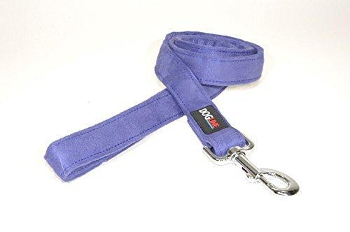 Dogline 6-Feet Soft Padded Durable Microfiber Dog Leash, 1-Inch, Purple