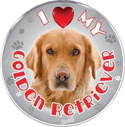 iLeesh I Love My Golden Retriever Reflective Decal
