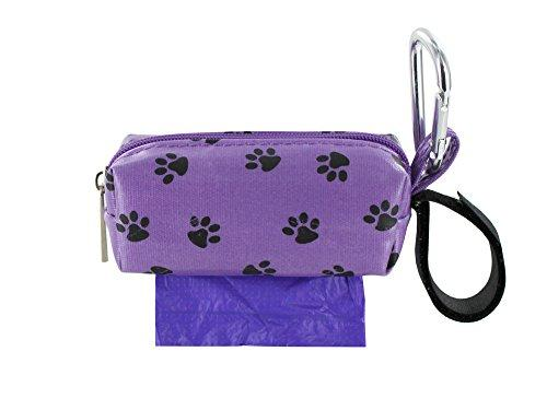 Doggie Walk Bags Square Duffel Paw Print Bag, Purple