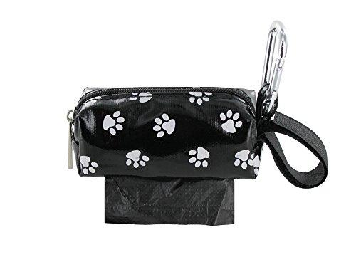 Doggie Walk Bags Square Duffel Paw Print Bag, Black