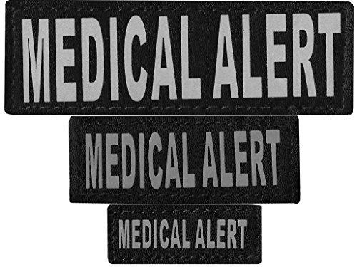 Dogline Medical Alert Removable Velcro Patches, Small/Medium