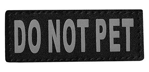 Dogline Do Not Pet Removable Velcro Patches, Small/Medium