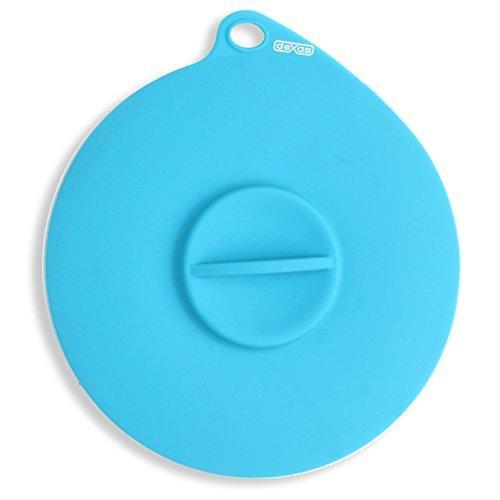 Dexas Popware for Pets Flexible Suction Pet Food Lid, Gray/Blue