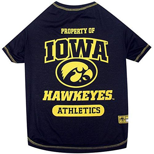 Pets First Collegiate University of Iowa Hawkeyes Dog Tee Shirt, X-Small